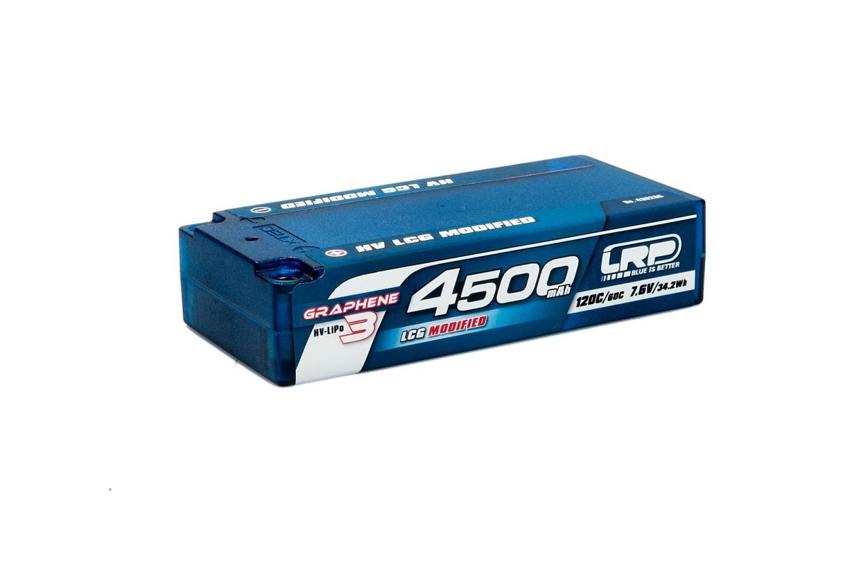 HV LCG Modified Shorty GRAPHENE-3 4500mAh Hardcase Akku - 7.6V LiPo - 120C/60C