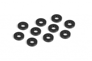 ALU SHIM FOR LOWER SUSP. HOLDER 3x7.5x1.5 - BLACK (10)